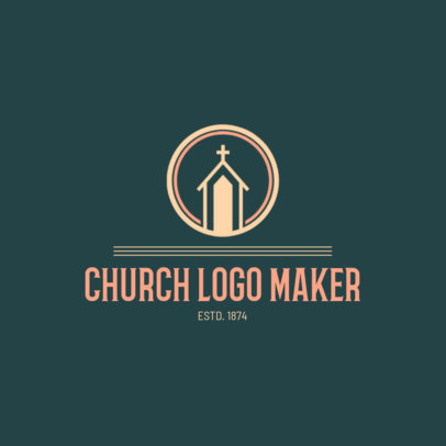 Church Logo Maker with Minimalistic Art 1772b