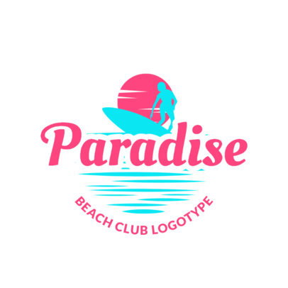 Online Beach Bar Logo Maker with Surfing Icons 1759c