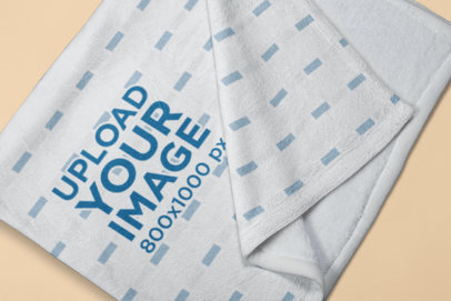 Mockup of a Soft Blanket with a Solid Background 24671