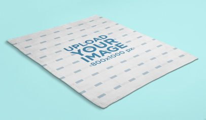 Mockup of a Soft Throw Blanket on a Solid Surface 24666
