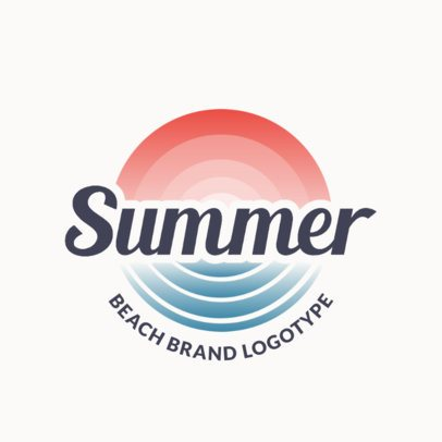 Beach Bar Logo Maker with Simple Gradient Features 1759a