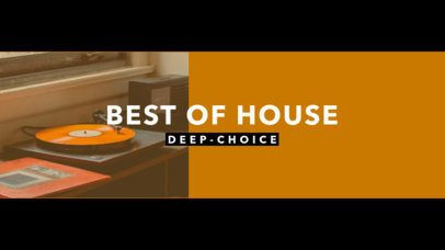 YouTube Banner Template for a House Music Channel 1075c
