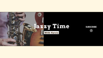 Jazz Music Channel YouTube Banner Maker 1075b