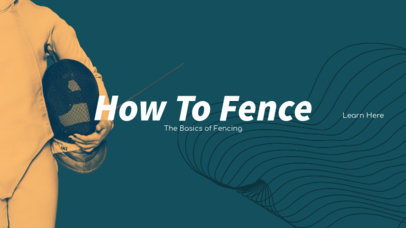 YouTube Banner Template for Fencing Channels 1074b-1903