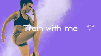 YouTube Banner Maker for Fitness Vloggers 1074c