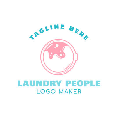 Laundromat Logo Generator with Cleaning Machine Clipart 1777d