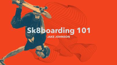 YouTube Banner Maker for Skater Channels 1074e