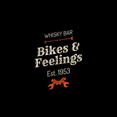 Biker Bar Logo Generator 1776c