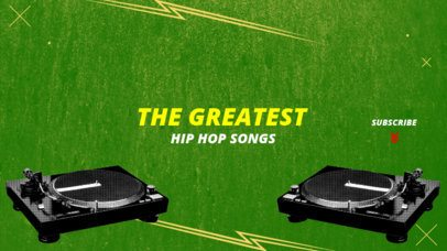 YouTube Banner Generator for a Hip Hop Music Review Channel 1080d