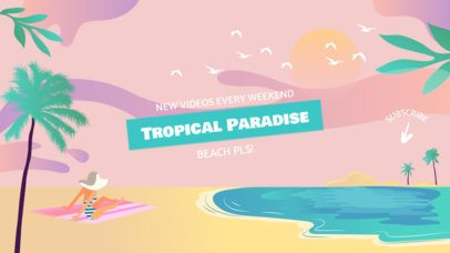 YouTube Banner Maker with Beachy Graphics 1077a