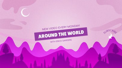 Adventurous YouTube Banner Design Template 1077b