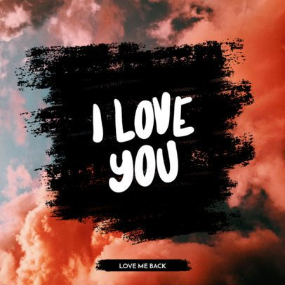 Instagram Post Maker for a Love Quote 1103e