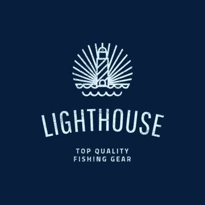 Fishing Logo Template with a Minimalistic Design 1794b