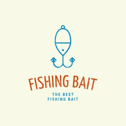 Fishing Logo Maker with Bait Clipart 1794e