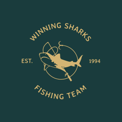 Fishing Logo Maker Featuring Shark Illustrations 1796d