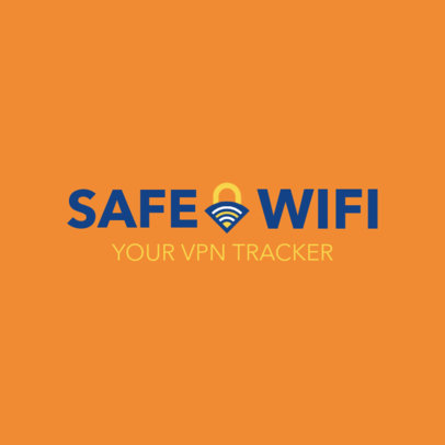 Cyber Security Logo Maker for a VPN Tracker 1789a