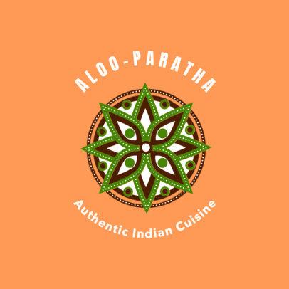 Indian Cuisine Logo Template 1835a