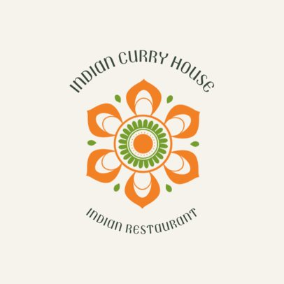 Indian Restaurant Logo Template for an Indian Curry House 1835c