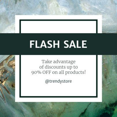 Instagram Post Template for a Flash Sale 1104c