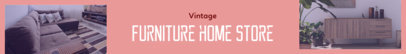 Etsy Shop Banner Maker for Vintage Furniture Stores 1120e