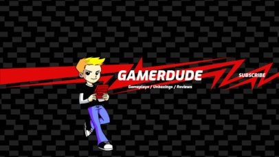 YouTube Banner Generator for a Gamer YouTube Channel 408a