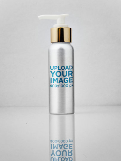 Label Mockup of a Metallic Cream Bottle a6630