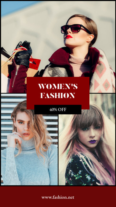 Instagram Story Generator for a Women's Fashion Sale 964c