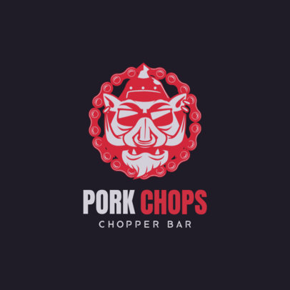 Biker Bar Logo Maker for a Chopper Bar 1764e
