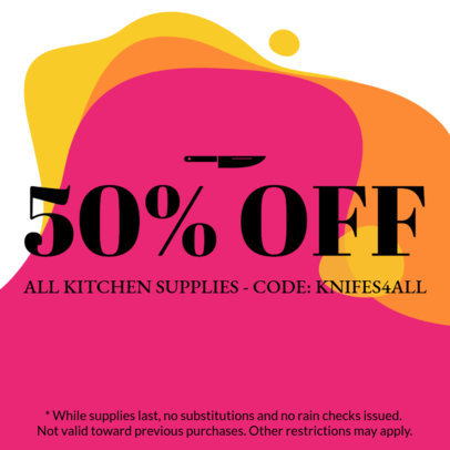 Colorful Coupon Design Template with a Minimalist Design 1004
