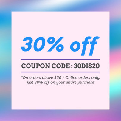 Coupon Design Maker with Holographic Backgrounds 1013a