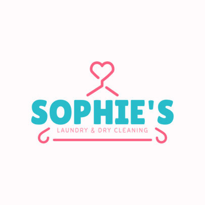 Laundry Logo Maker with Cute Hanger Clipart 1774e