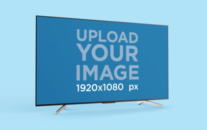Mockup for a TV with a Solid Color Background 26124