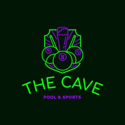 Bar Logo Maker with Sport Theme in Neon Colors 1678c