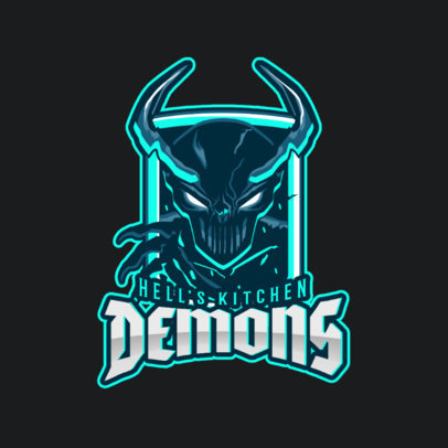 Gaming Logo Maker with Demon Graphics 1750a