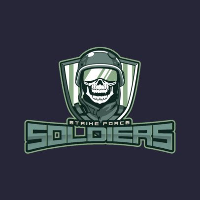 eSports Logo Design Template with Soldier Graphics 1750c