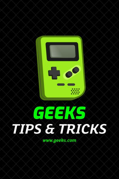 Pinterest Pin Maker for a Geek Tips Post 1124a