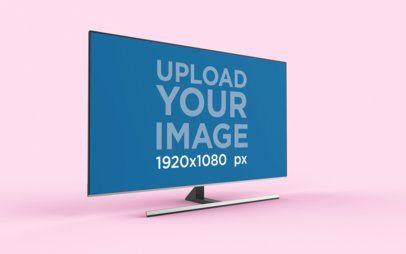 TV Mockup Featuring a 3D Render Flat Screen 26129