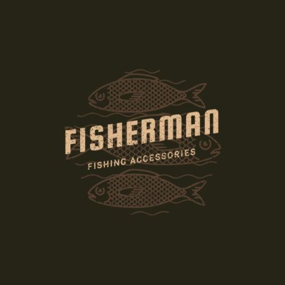 Fishing Logo Maker Featuring Lure Clipart 1792e