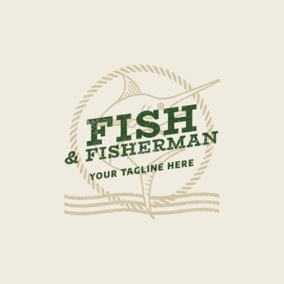 Fishing Team Logo Design Template 1792b