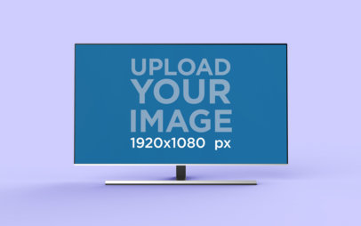 Render Mockup Featuring a Flat Screen TV 26130
