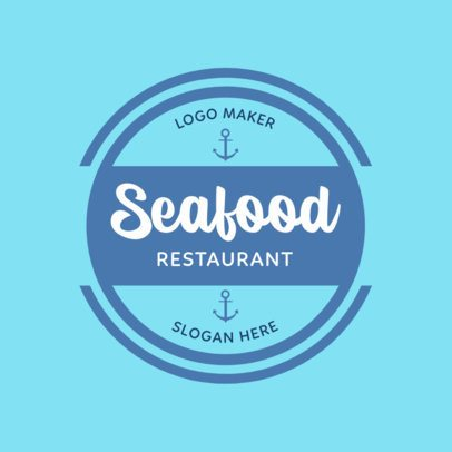 Seafood Logo Maker with Custom Badges 352d
