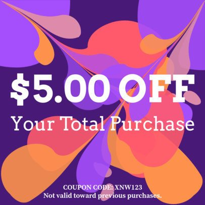 Coupon Design Maker with an Abstract Background 1004a