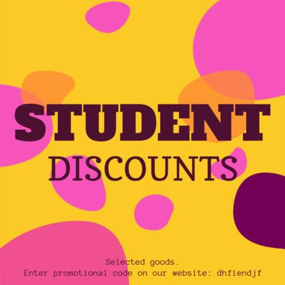 Coupon Design Template for a Student Discount 1004e