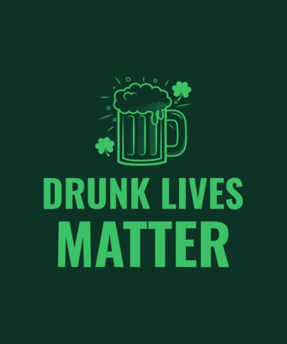 St. Patrick's Day Tee Design Template 1131a