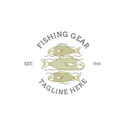 Fishing Logo Maker for a Fishing Gear Store 1793e