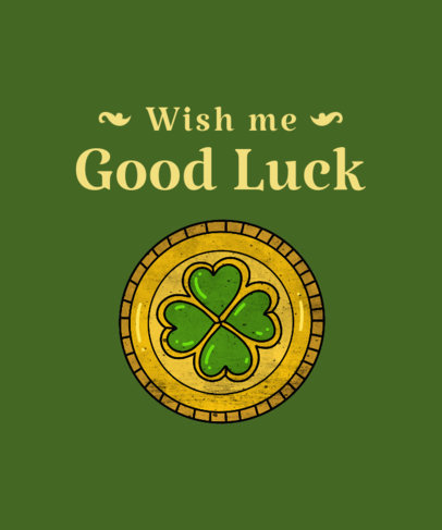 St. Patrick's Day T-Shirt Maker with Irish Imagery 1129a