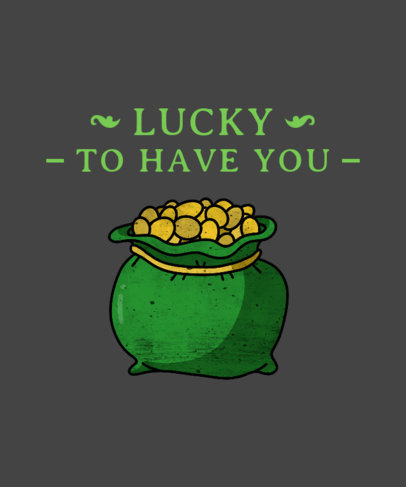 St. Patrick's Day T-Shirt Maker with Irish Luck Theme 1129e