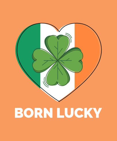 Lucky St. Patrick's Day T-Shirt Design Maker 1130c