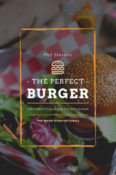Cookbook Cover Template for a Burger Recipe Book 920b