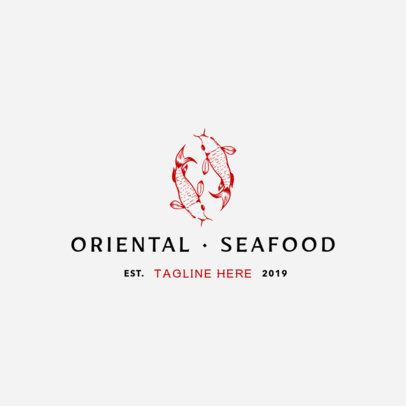 Oriental Seafood Logo Template 1797b